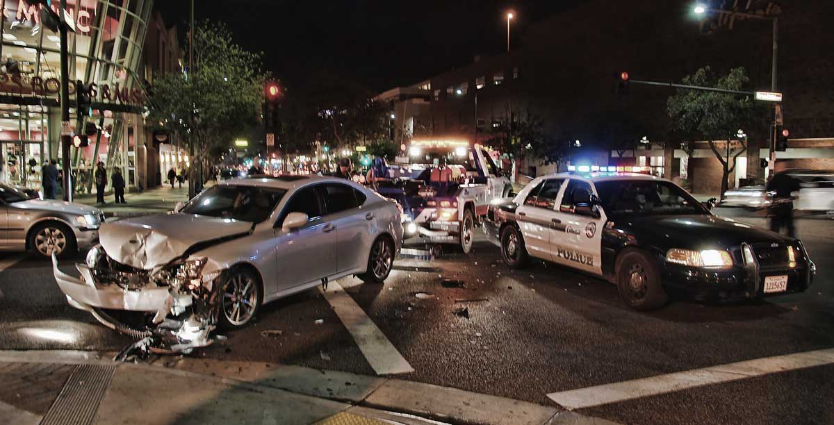 accident scene with police, Dallas Failure to Yield Lawyer