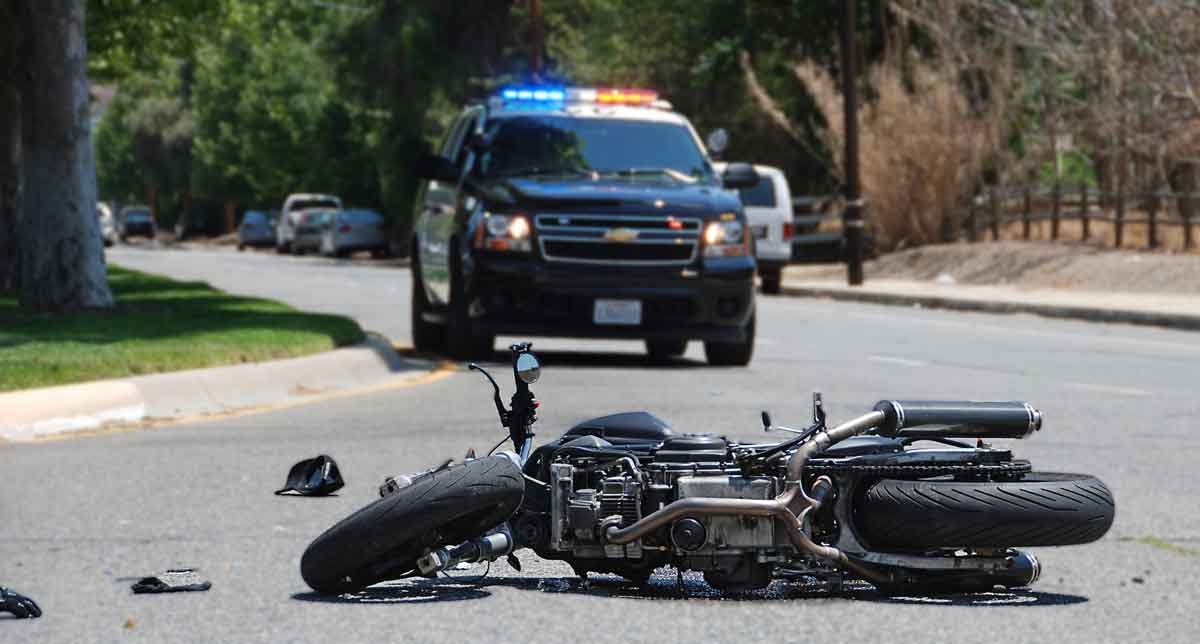 Police at scene of motorcycle accident, Dallas Motorcycle Accident Lawyer
