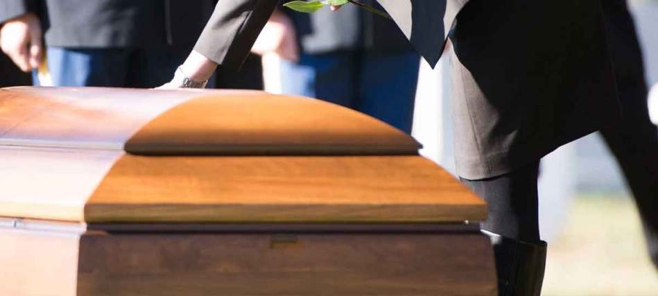 Casket at funeral. Dallas loss of inheritance lawyer.