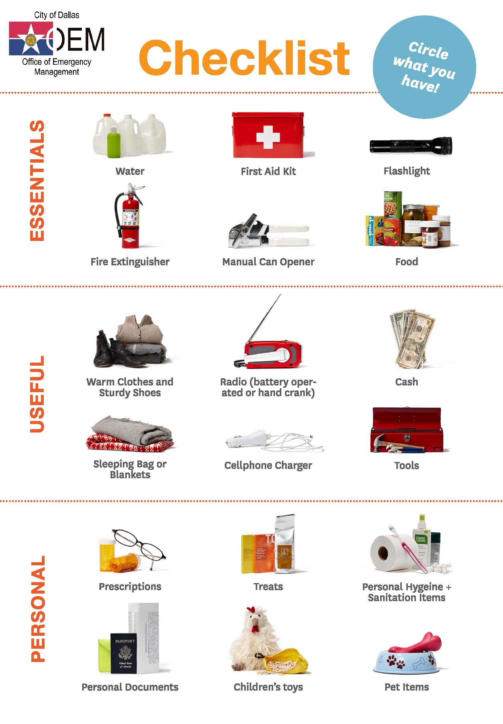 Office Of Emergency Management Make A Disaster Kit