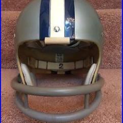 Cowboys Football Helmet Chair Bar Height Dallas Used Vintage Riddell Kra Lite Tk2 1971 Staubach Rare