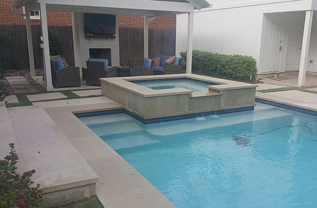 stained pool without draining it