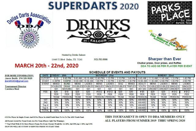 スーパー ダーツ 2020