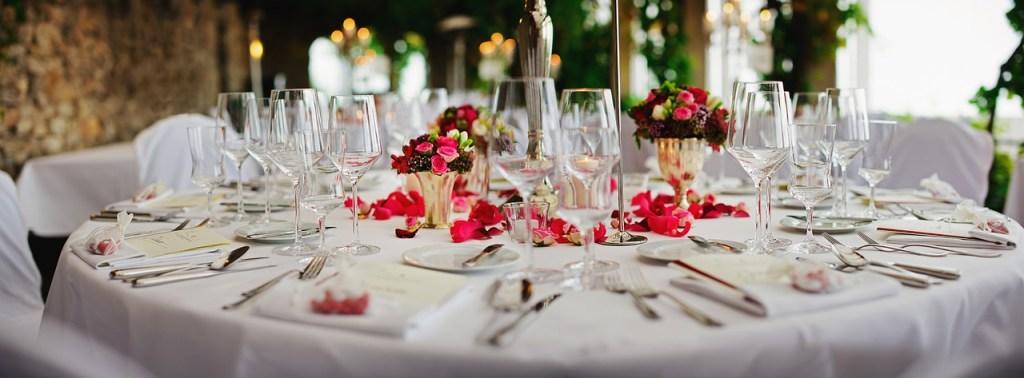 fancy restaurant dinner table