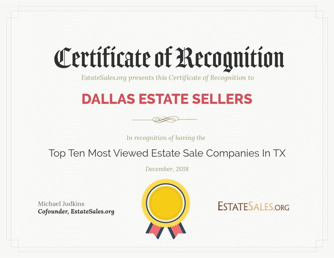 Top Rated Estate Sales Company – Dallas, TX