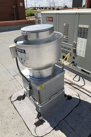 kitchen exhaust fans and make up air