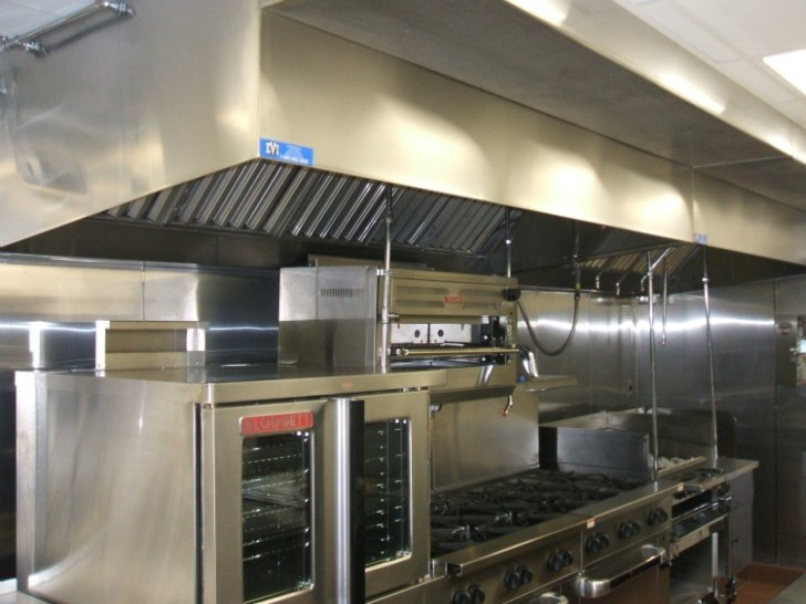 Stainless Steel Exhaust Vent Hood Systems Comemrical Restaurants