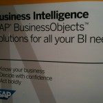 The lone BusinessObjects sign at SAPPHIRE 2011