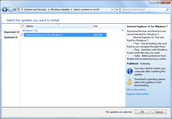 Microsoft IE 11 for Windows 7 01 600