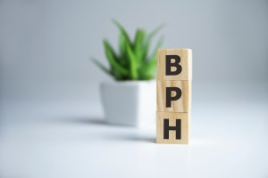 "letter blocks spelling out the word ""BPH"""