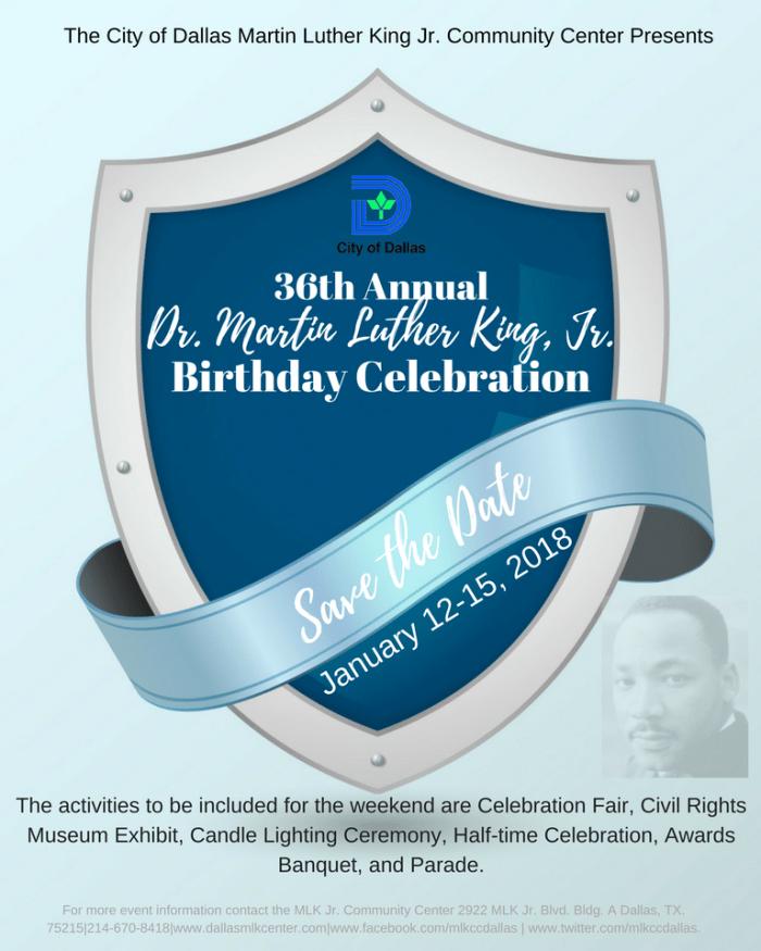 2018 MLK Celebration Save the Date