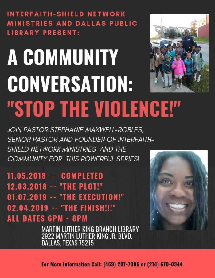 Stop the Violence: A Community Conversation @ MLK, Jr. Library