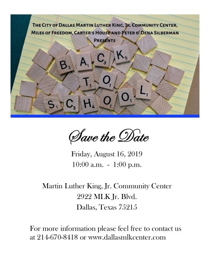 MLK Back to School Festival @ MLK, Jr. Community Center