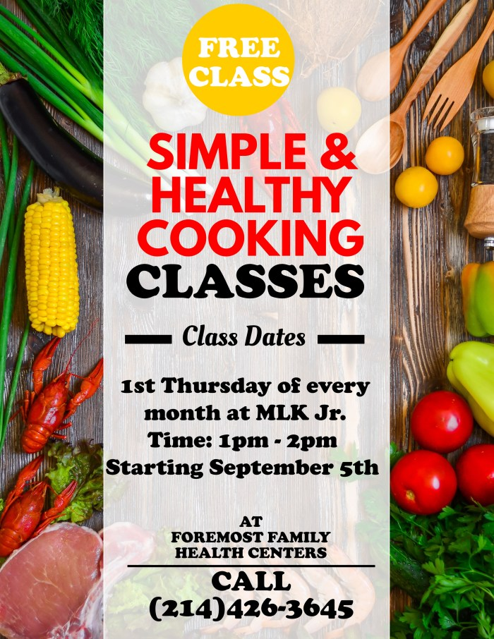 Simple & Healthy Cooking Classes @ Foremost Family Health Center