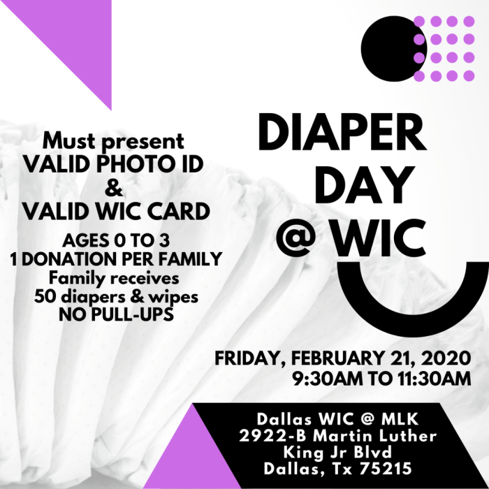 Diaper Day @ WIC @ Martin Luther King Jr Community Center