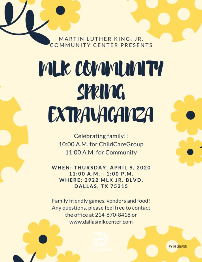 MLK Community Spring Extravaganza @ Martin Luther King Jr. Community Center