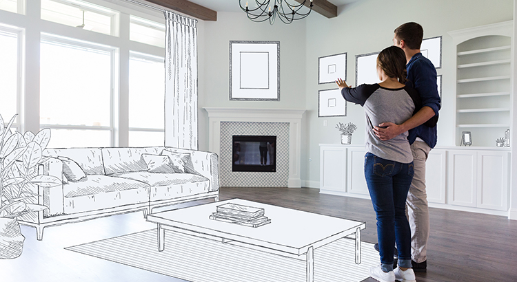 Couple dream in their new home