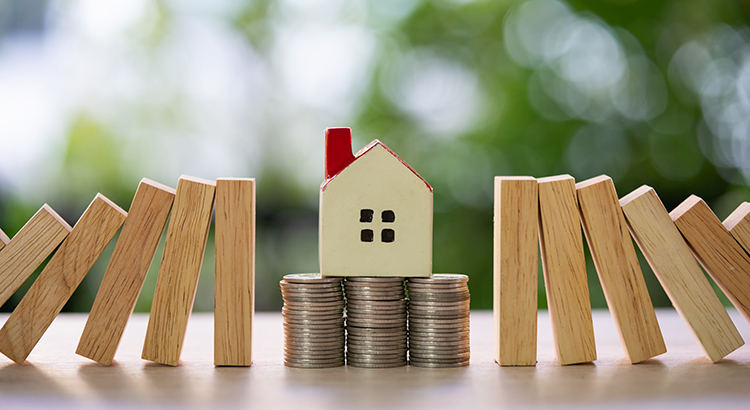 Home and Home Insurance Concept,Home sale