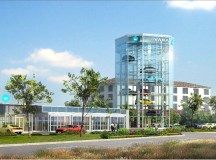 Yes, that's a car vending machine Carvana's building in ...