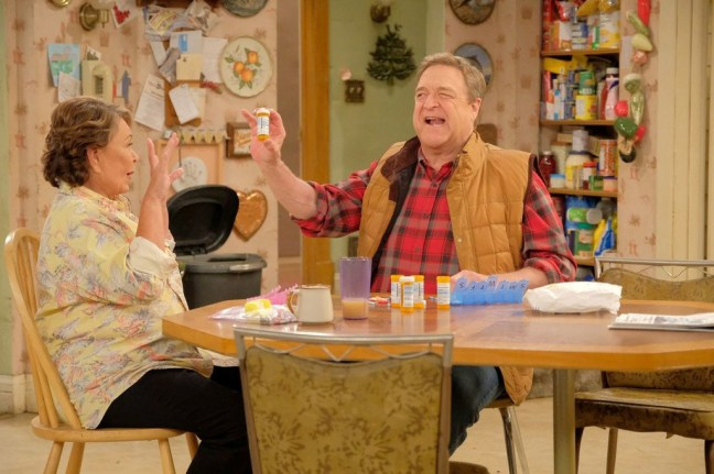 <p&gtThe writing on <i&gtRoseanne </i> is good — but it's John Goodman's delivery and expressions that really get you laughing.</p>(Adam Rose/ABC)