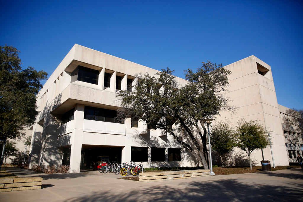 Police officers enrolled in the special master's program took some classes in this building on the Richardson-based campus of the University of Texas at Dallas. Investigators found that some students were told they would receive A's in some courses despite not needing to attend any classes. (Rose Baca/Staff Photographer)