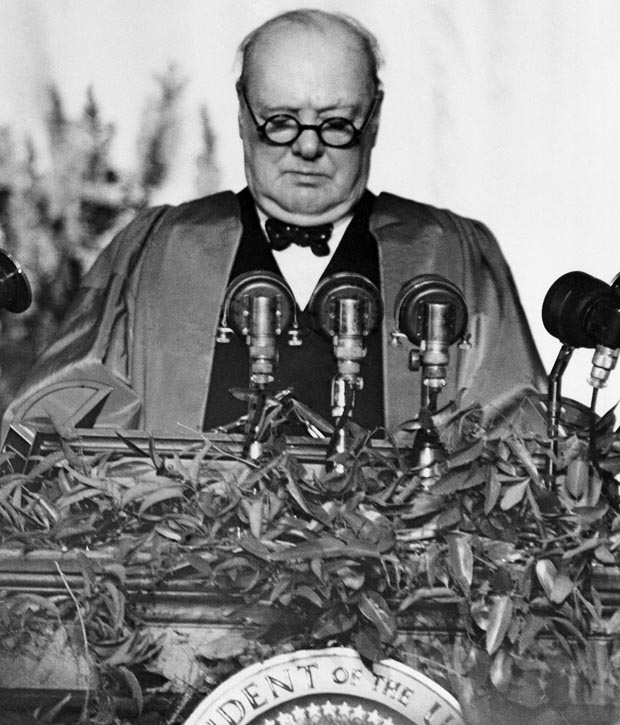Today In Photo History 1946 Churchill Delivers Iron Curtain
