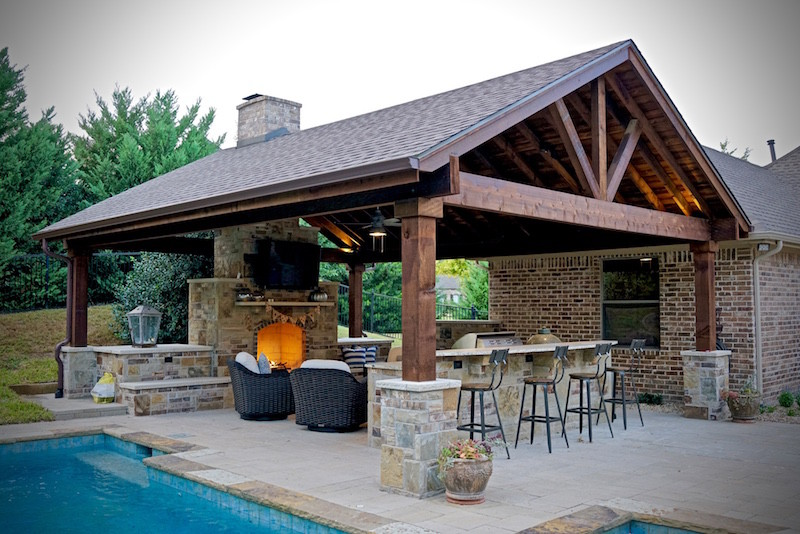 Dallas Outdoor Kitchens Gallery of Outdoor Living Fireplaces  Pools