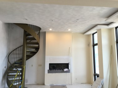 Sand Finish Plaster Walls and Ceiling