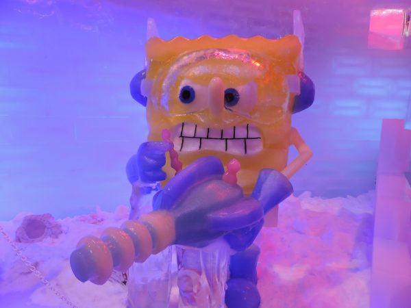 of ICE LAND: Ice Sculptures with SpongeBob SquarePants