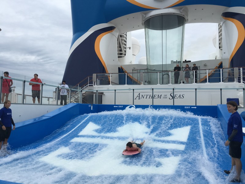 Flowrider on Anthem of the Seas with Royal Caribbean Leap Day