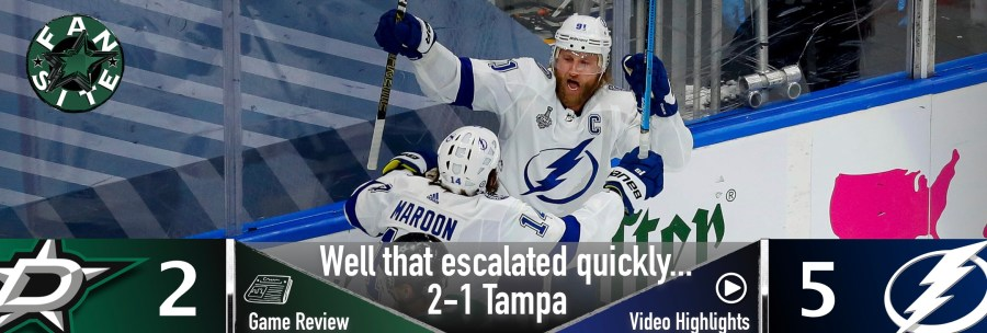 Well that escalated quickly… 2-1 Tampa