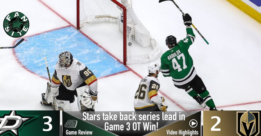Dallas Stars vs Vegas Golden Knights, Game 3
