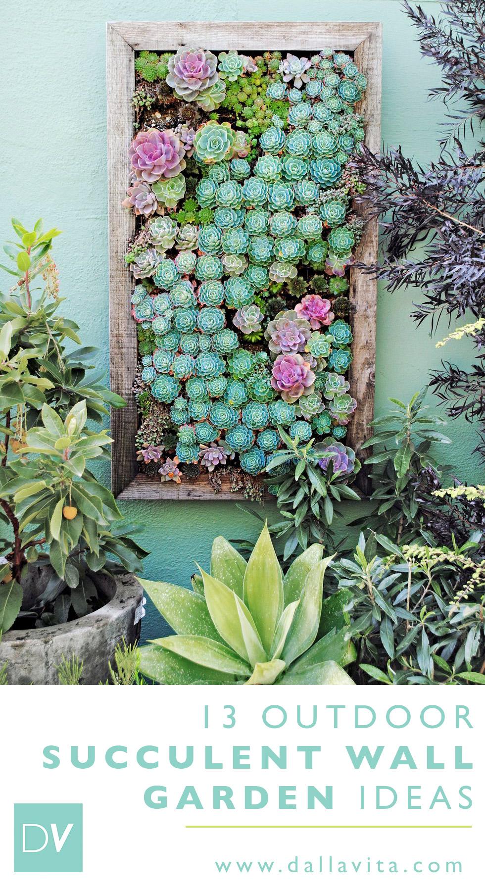 13 Outdoor Vertical Succulent Gardens - Dalla Vita