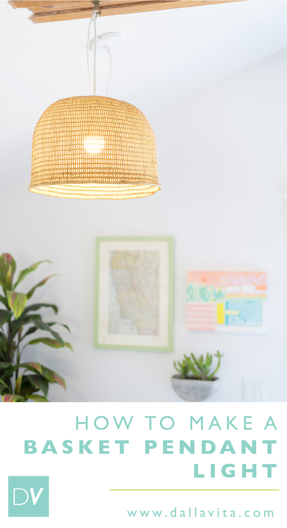 Basket Pendant Light DIY