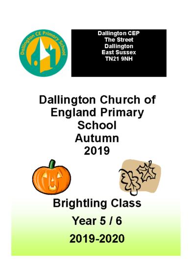 Brightling Class Brochure Autumn 2019