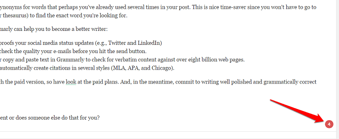 Grammarly works with WordPress