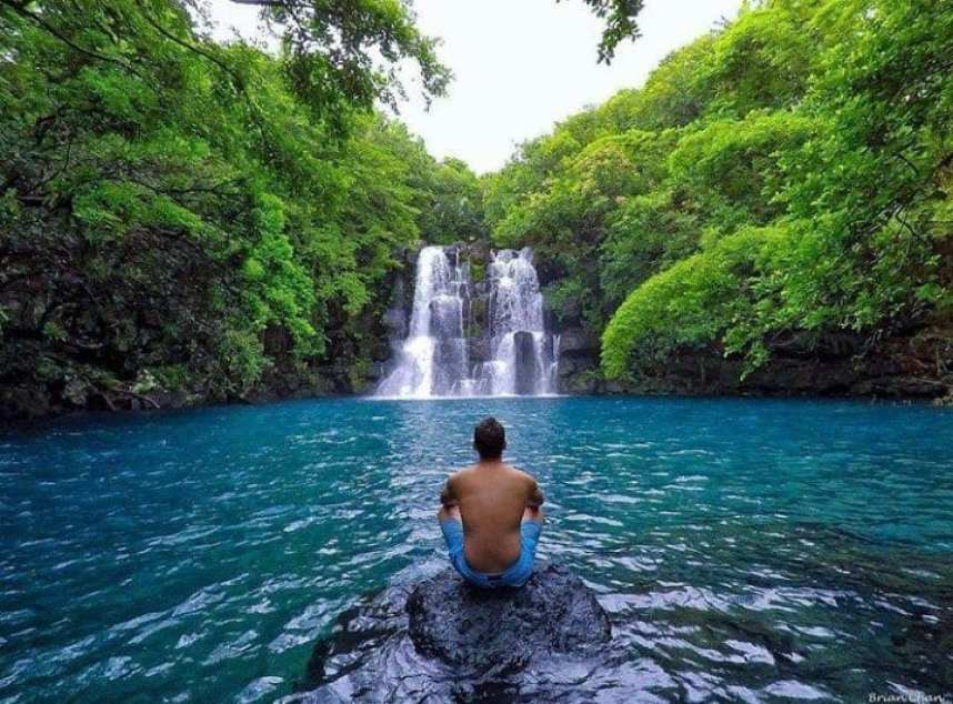 Explore Mauritius: 9 Best Places To Visit In Mauritius- Eau Bleue waterfalls