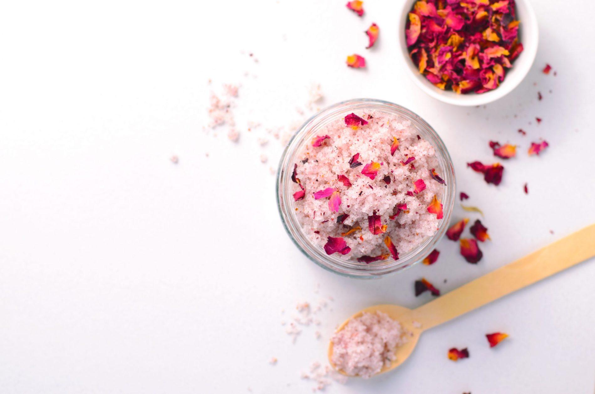 DIY Natural Rose Sugar Body Scrub For Youthful Skin