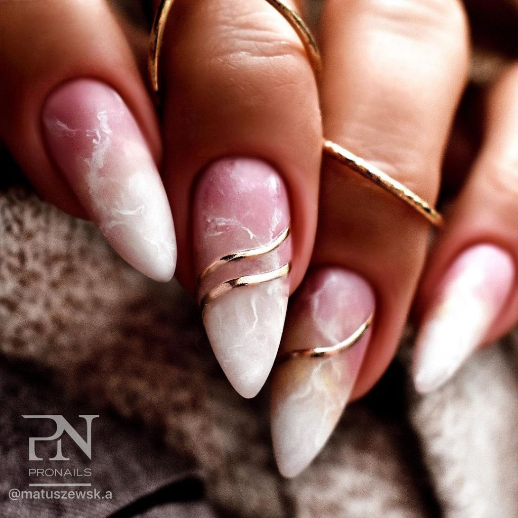 Upgrade Your Manicure With These 20+ Marble Nail Designs