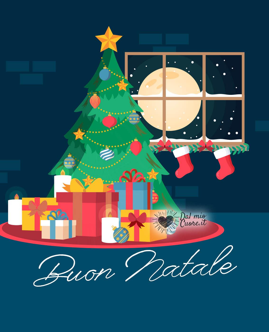 La ghirlanda brilla sull'albero di natale, il gatto riposa. Auguri Di Buon Natale Immagini Video E Gif Per Facebook E Whatsapp