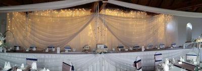Esküvői dekoráció - főasztal