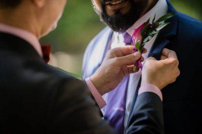 Esküvői kitűző