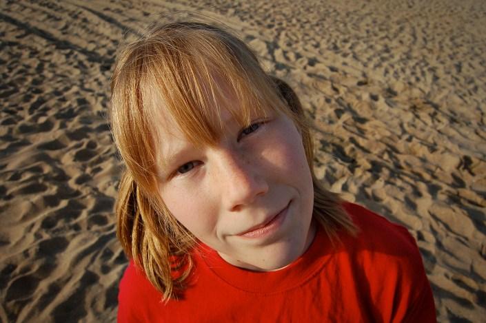 Girl at Beach, close up