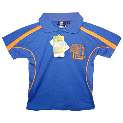 Polo Shirt Royal Blue/Gold