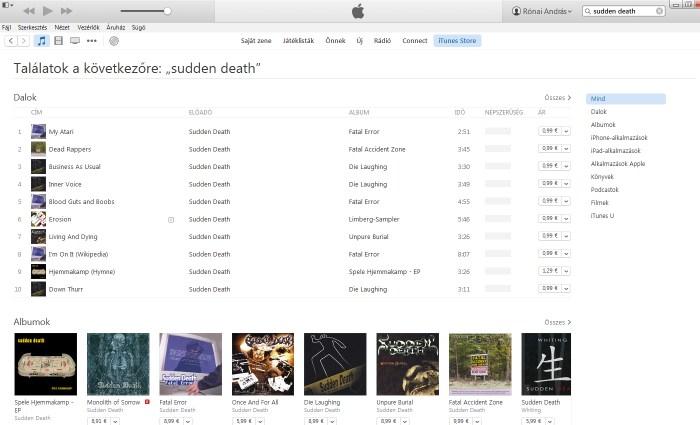 iTunes sudden death