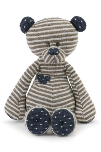 Demdaco Tender Love Baby Bear Rattle 7""