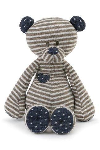 "Demdaco Tender Love Baby Bear Rattle 7"""