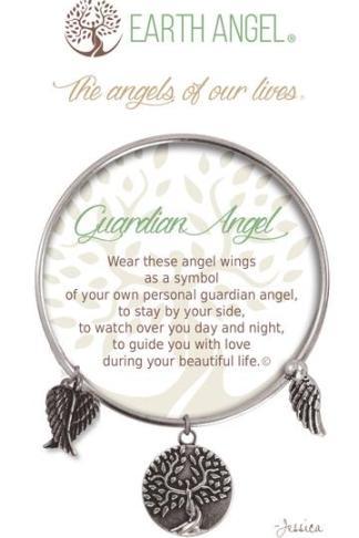 """Earth Angel Charm Bracelet """"Guardian Angel"""""""