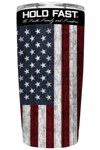 HOLD FAST 20 oz Stainless Steel Tumbler American Flag