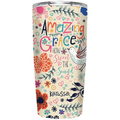 Kerusso 20 oz Stainless Steel Tumbler Amazing Grace